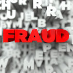 Fraud in red letters depicted against white background