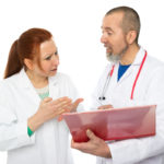 two doctors arguing over patient results