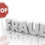Stop Fraud Sign End Crime Theft 3d Illustration